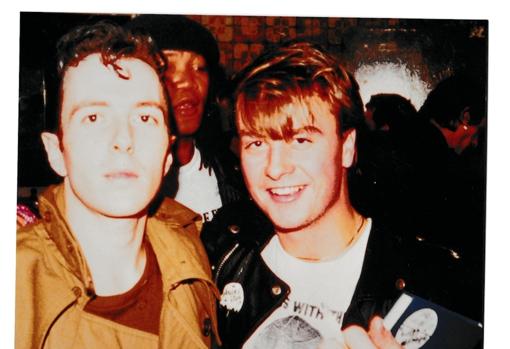 Martin (right), with Joe Strummet