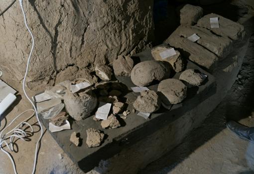 Algunas de las piezas arqueológicas descubiertas en Luxor