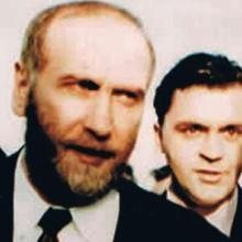 Fischer acudía a sus compromisos junto a su inseparable escolta Stankovic