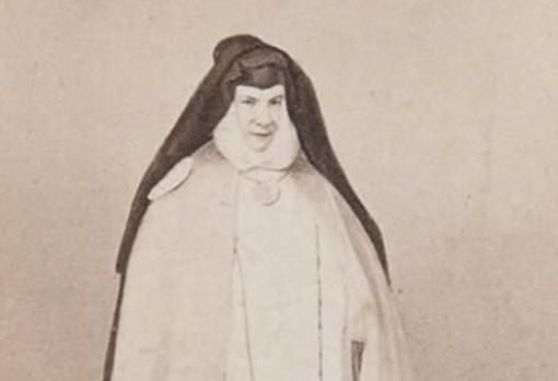 Photographic portrait of Sr. Patrocinio, by Jean Laurent.