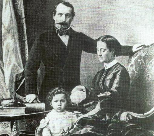 Fotografía de Napoleón III y su familia.