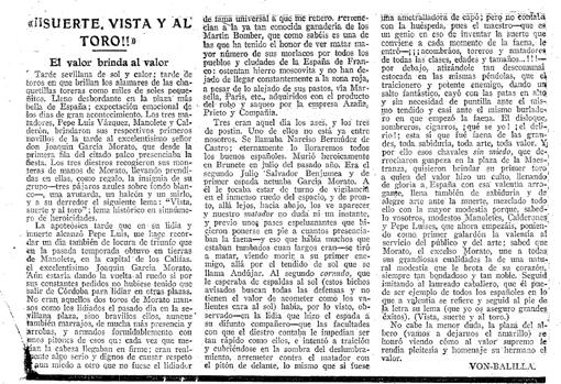 Article on the combat of Garcia Morato