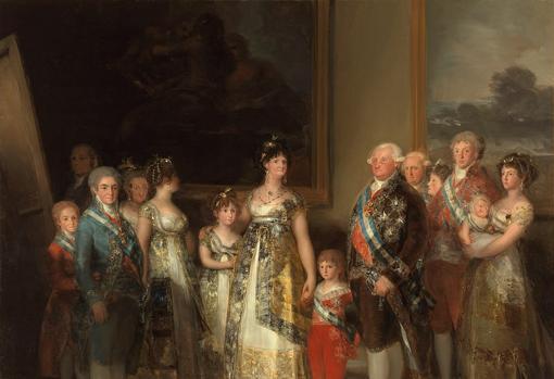 La familia de Carlos IV, pintura de Goya.