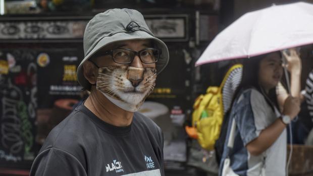 Manifestantes en Hong Kong contrarios a la ley EFE