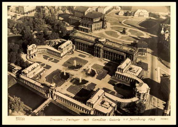Ansichtskarte  Postkarte Dresden Hahn 12983 Zwinger vor