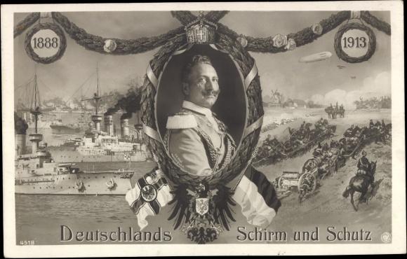 Ansichtskarte  Postkarte Deutschlands Schirm und Schutz  akpoolde