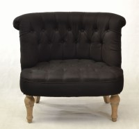 Buy a black small bedroom chair with linen upholstery