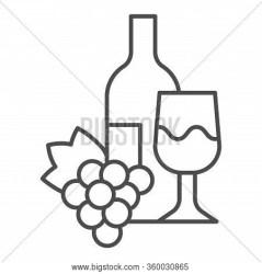 Bottle Glass Wine Vector & Photo Free Trial Bigstock