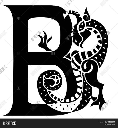 small resolution of dragon letter b