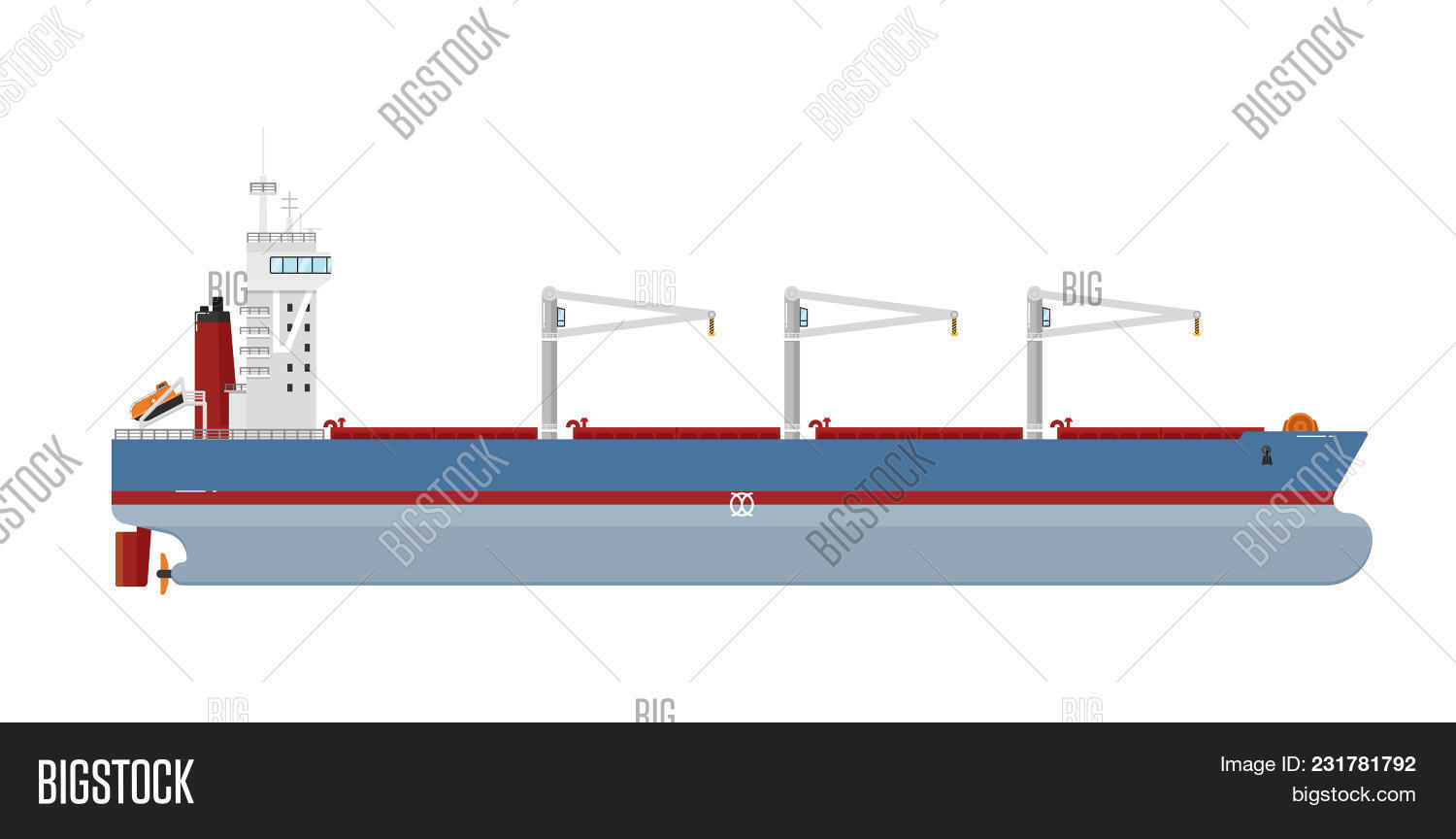 hight resolution of cargo ship with cranes isolated on white background illustration freight tanker side view commerci