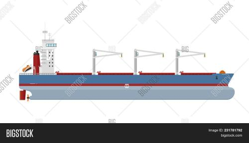 small resolution of cargo ship with cranes isolated on white background illustration freight tanker side view commerci