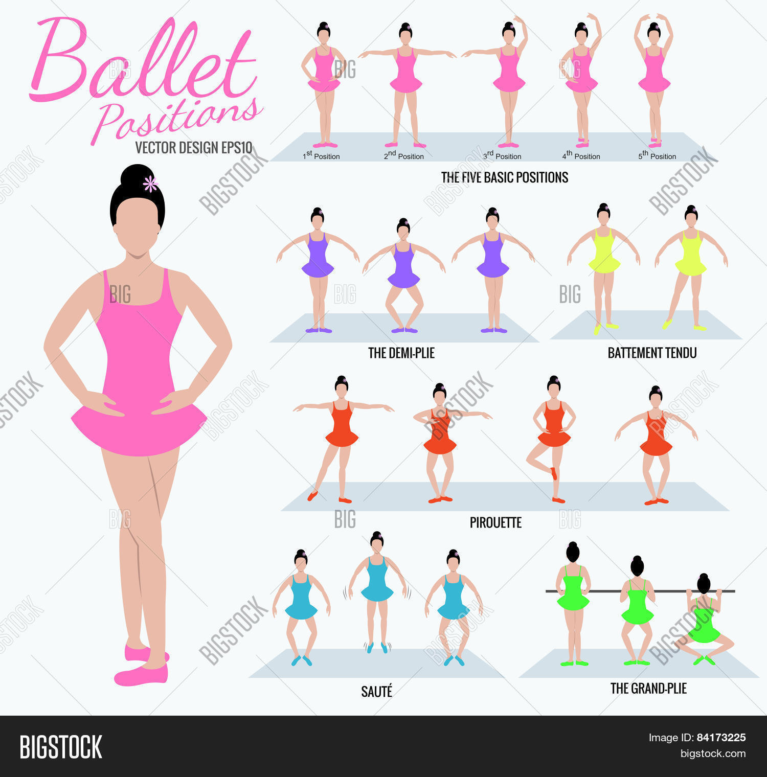 Ballet Positions Girl Vector Amp Photo Free Trial