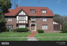 Large English Tudor Style Home & Bigstock