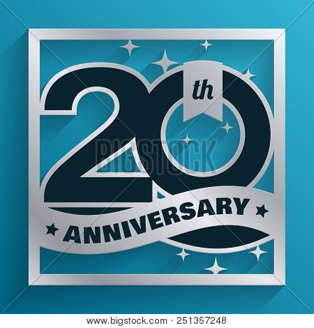 20 years silver vector photo free