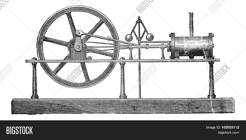 hight resolution of simple expansion steam engine vintage engraved illustration trousset encyclopedia 1886 1891