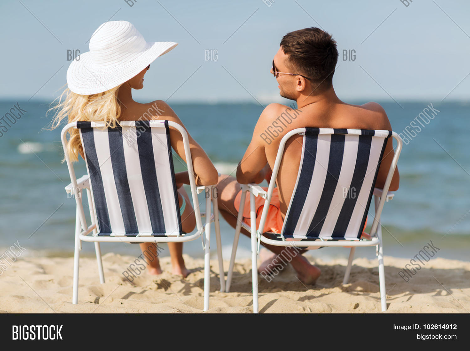 Sunbathing Chairs Love Travel Tourism Image Photo Free Trial Bigstock