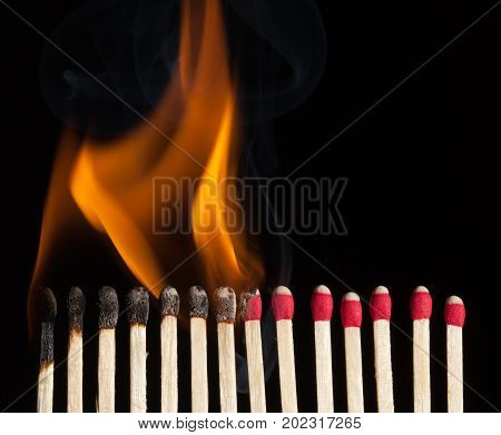 sequence burning match image