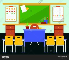 Empty Classroom Study Vector & Photo Free Trial Bigstock