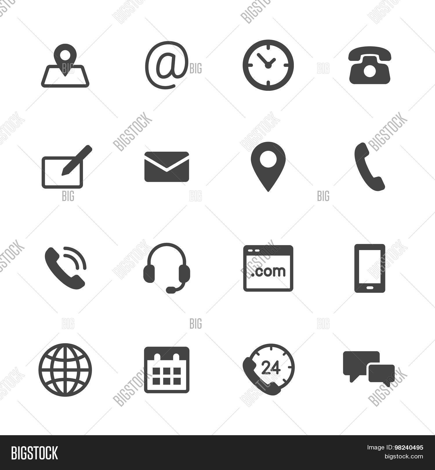 Vector Y Foto Contact Icons Prueba Gratis