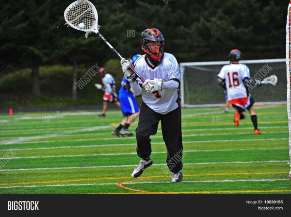 Lacrosse Goalie On Move Image Photo Bigstock