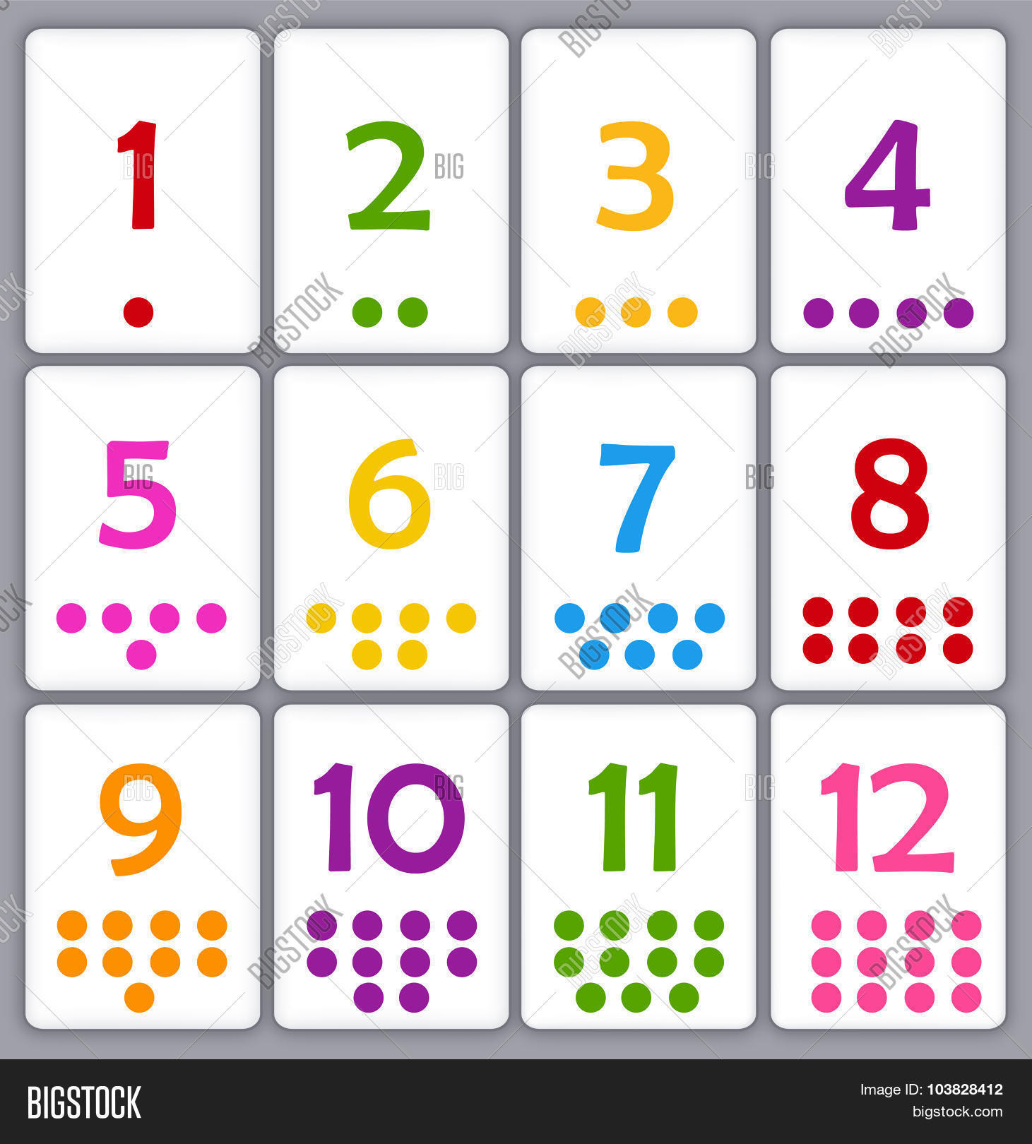 Numbers Flash Card Image Amp Photo Free Trial