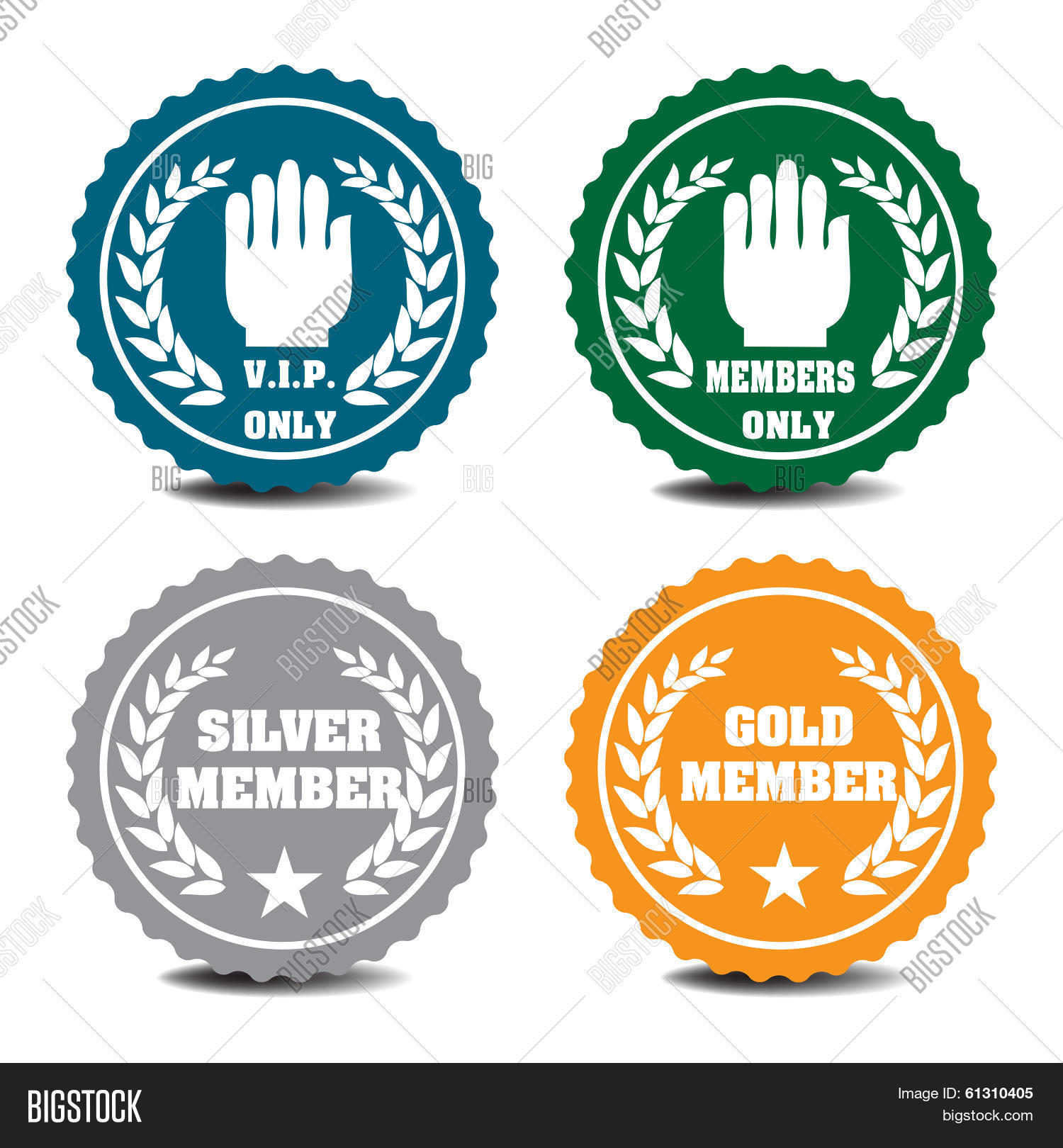 vip badges vector photo