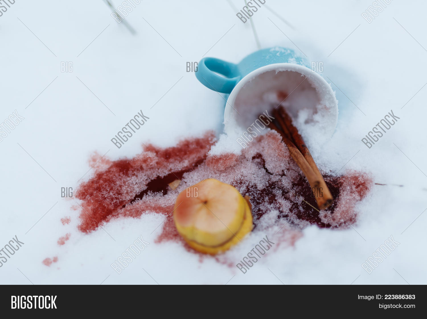Traditional hot winter drink PowerPoint Template - Traditional hot ...