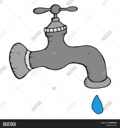 gray water tap with a drop of water vector illustration water tap with a drop [ 1500 x 1620 Pixel ]