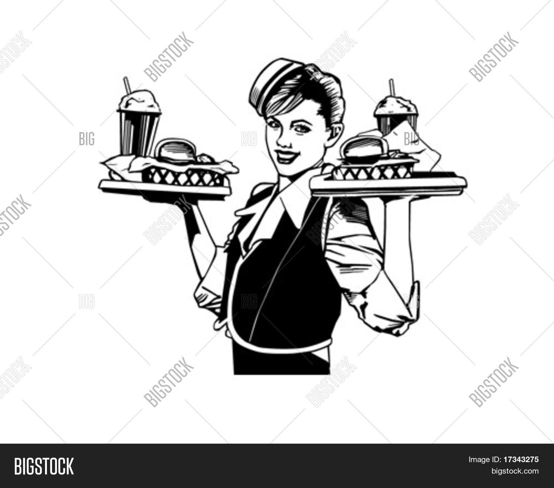 Retro Waitress