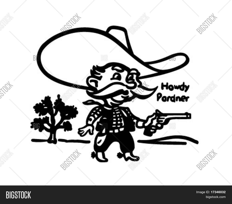 Howdy Pardner - Vector & Photo (Free Trial)   Bigstock