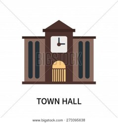 Town Hall Icon Vector & Photo Free Trial Bigstock