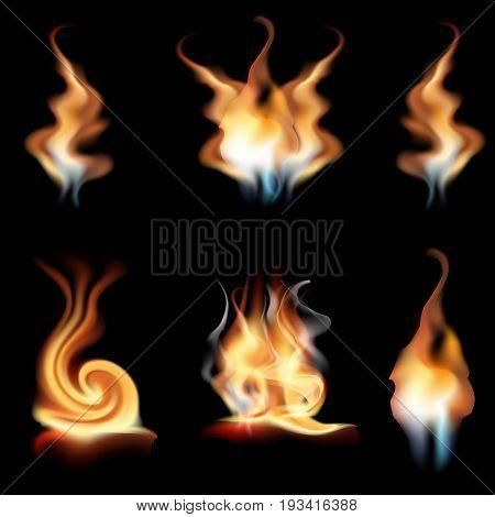 vector realistic fire vector