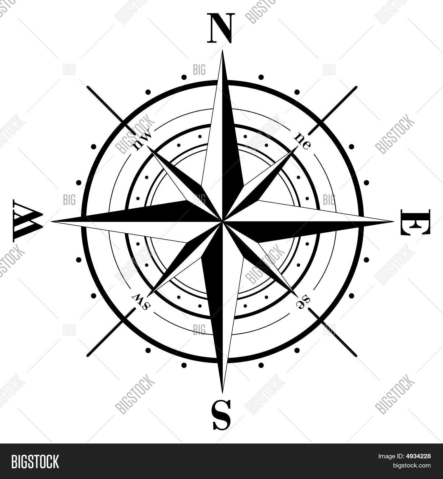 Compass Rose Vector Amp Photo Free Trial