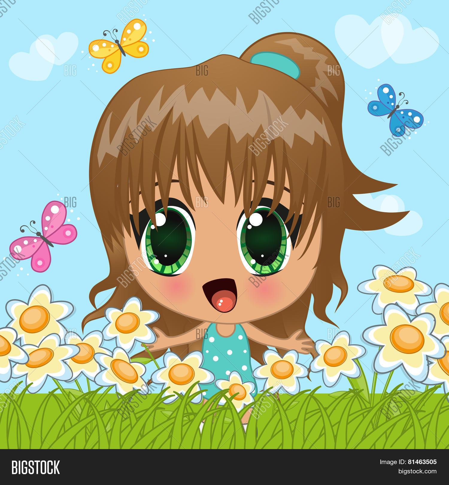 anime girl vector photo