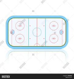 the vector illustration of hockey rink  [ 1500 x 1620 Pixel ]