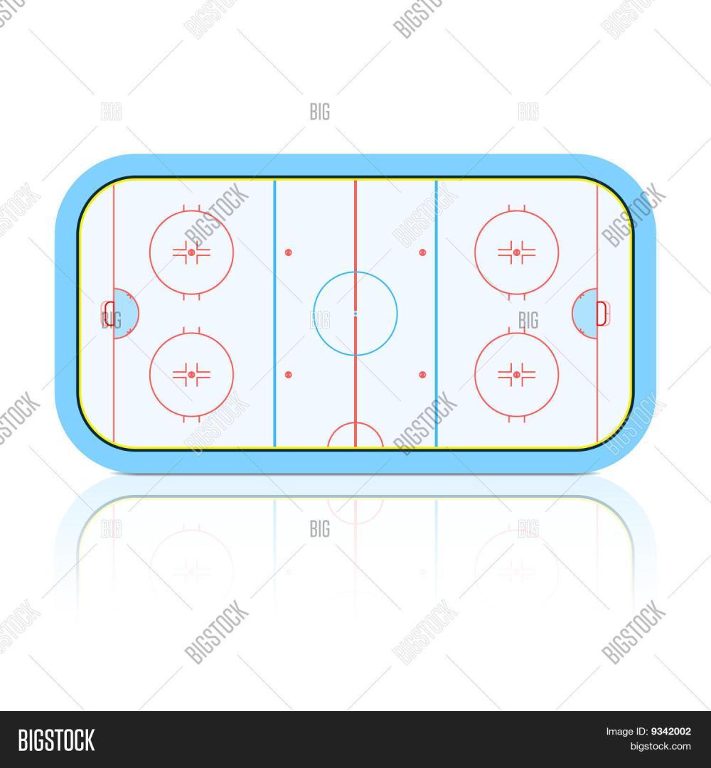 medium resolution of the vector illustration of hockey rink