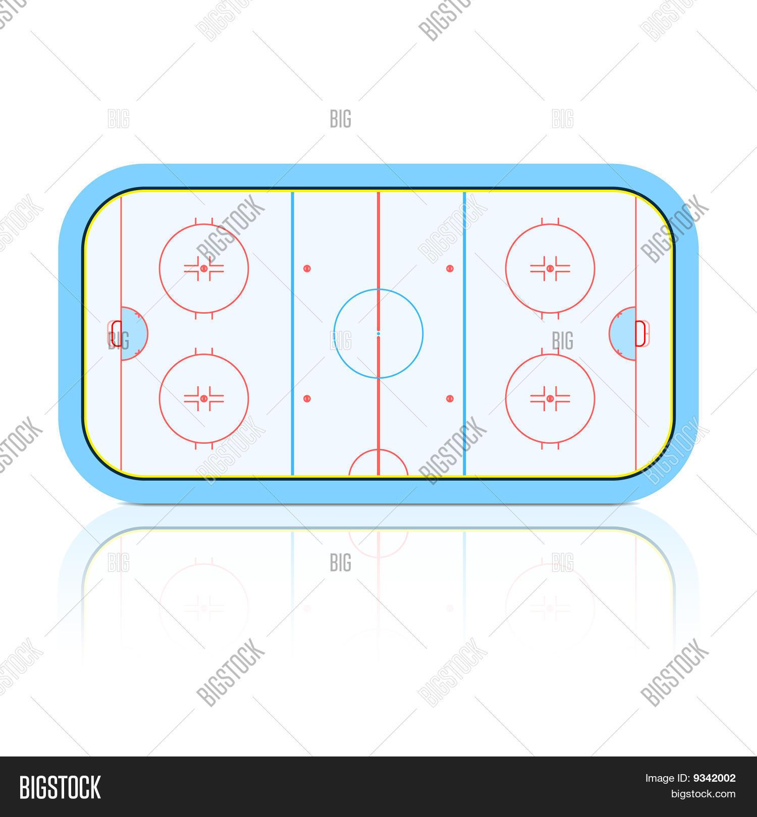 hight resolution of the vector illustration of hockey rink