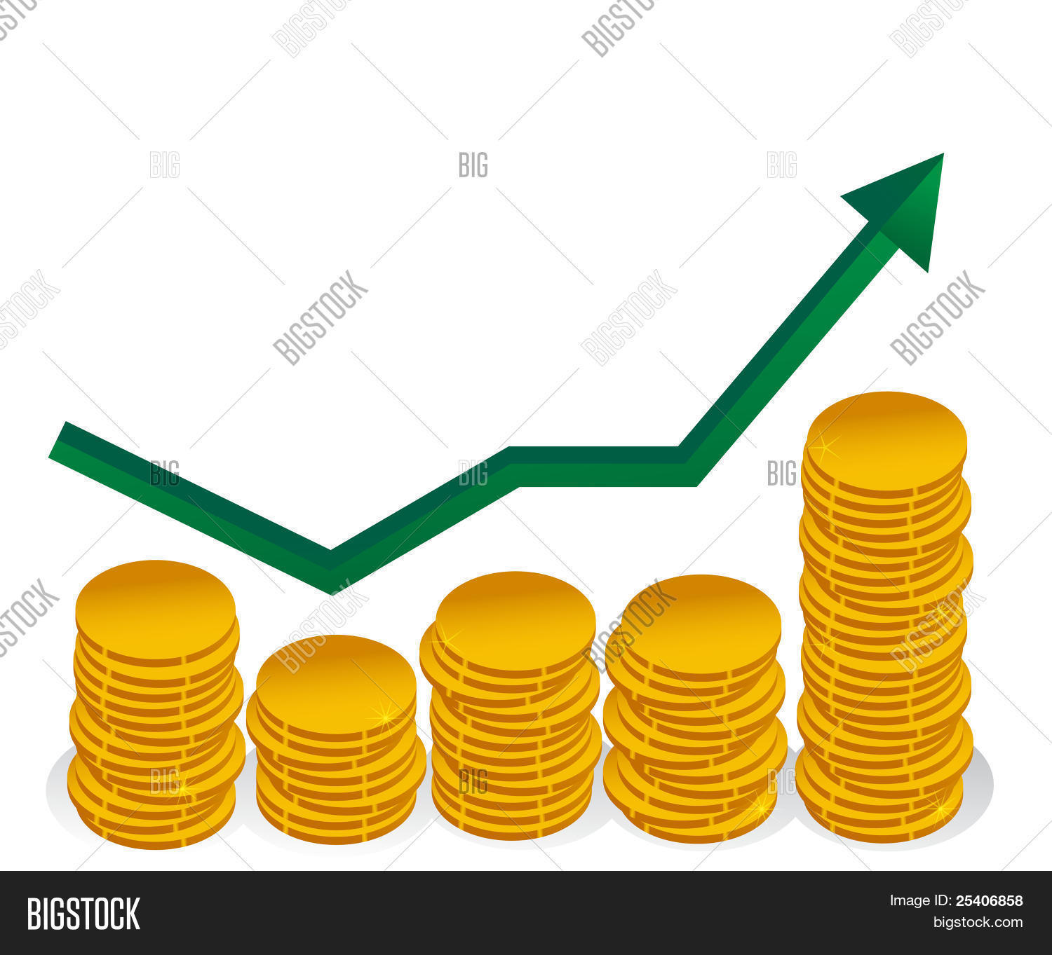 hight resolution of finance graph