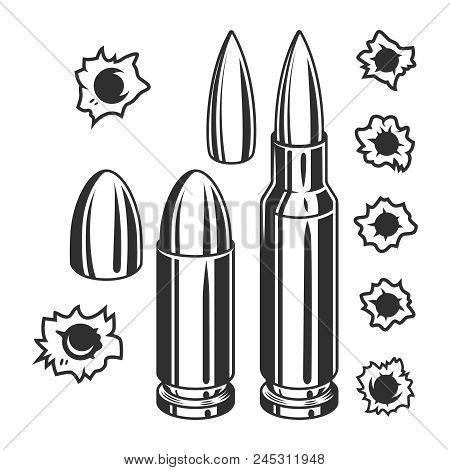 vintage bullets vector photo