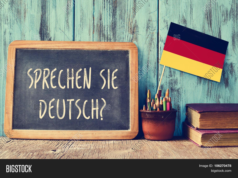 Chalkboard Question Sprechen Sie Image & Photo | Bigstock
