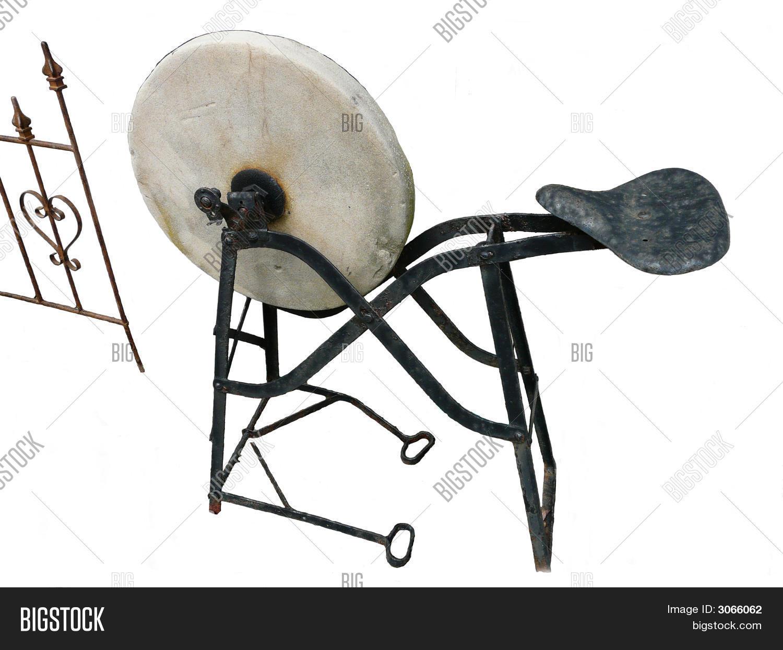 Antique Stone Grinding Wheel