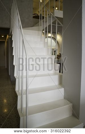 Light Interior Living Image Photo Free Trial Bigstock | Staircase Inside Living Room | Kitchen Stair | Apartment | Inside Lounge | Staircase Tv | Private Home