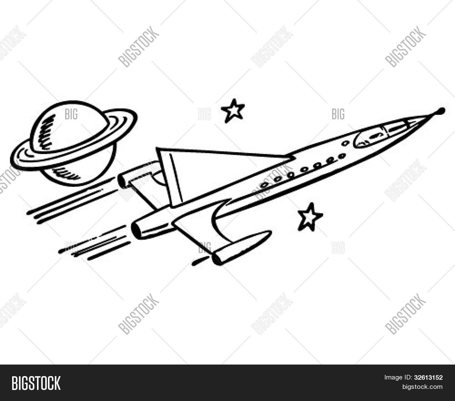 Spaceship Passing Vector Amp Photo Free Trial