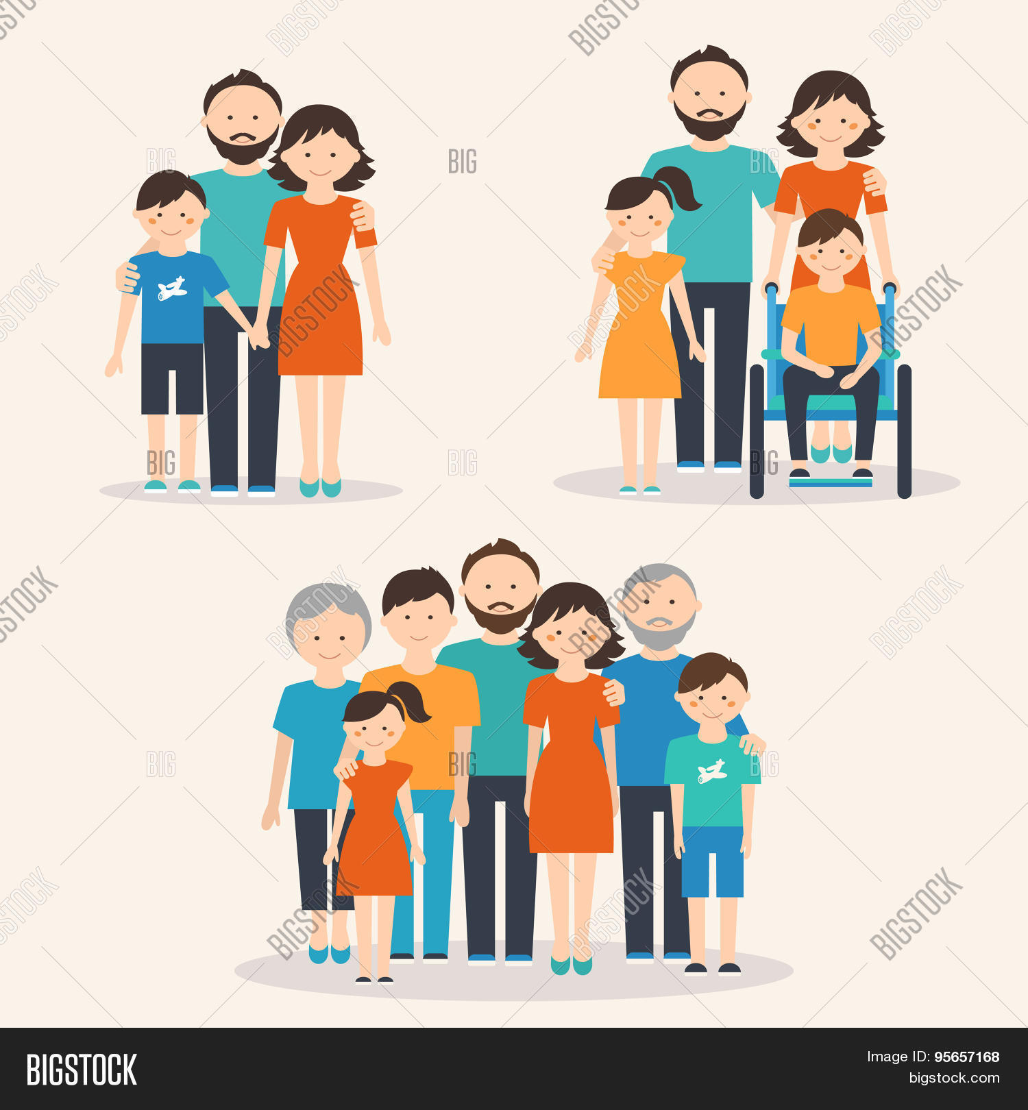 Nuclear Family Vector Amp Photo Free Trial