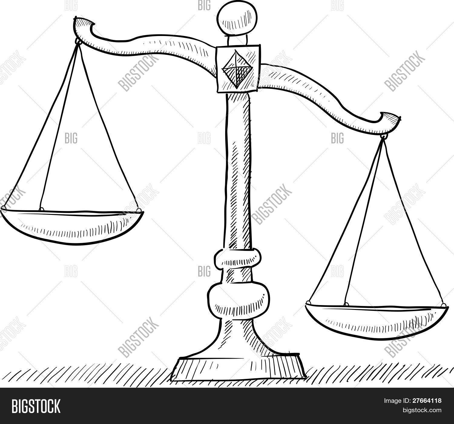 Tipped Scales Drawing Vector Amp Photo Free Trial