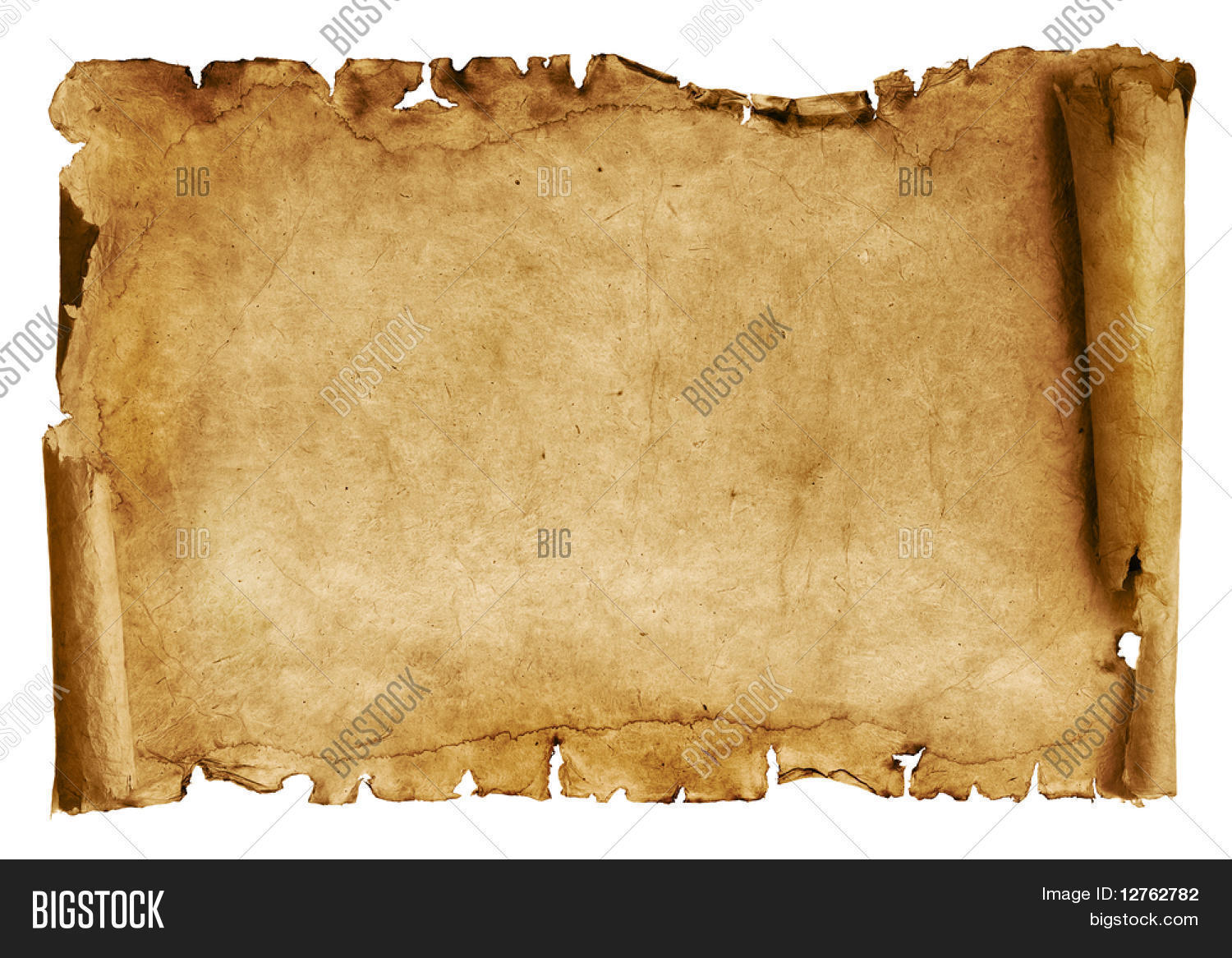 Old Paper Scroll Image Photo Free Trial Bigstock