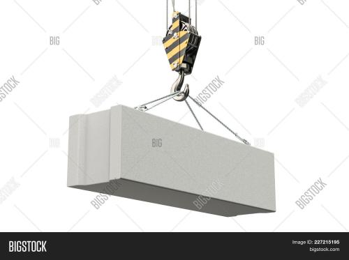 small resolution of crane hook with foundation concrete block 3d rendering isolated on white background