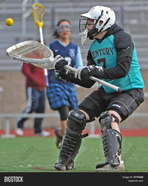 Girls Hs Varsity Lacrosse Goalie Image Photo Bigstock