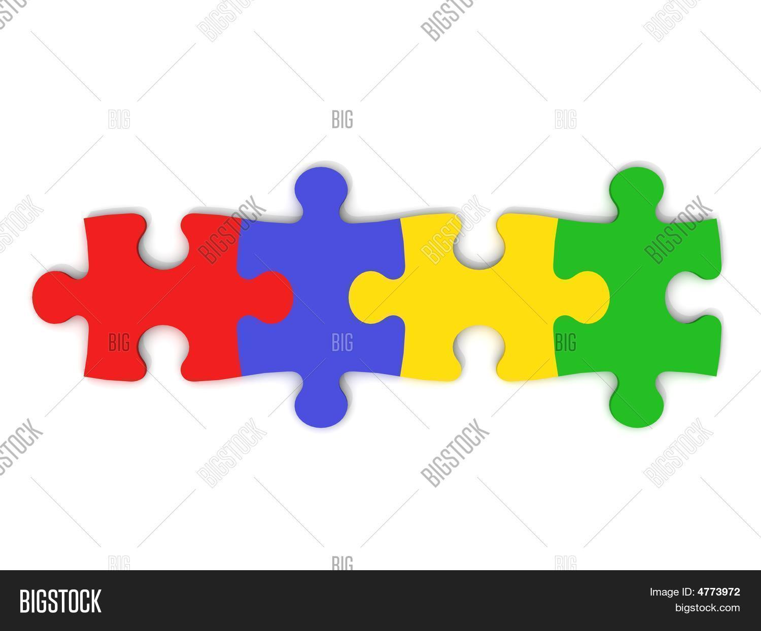 Colorful Puzzle Pieces Image & Photo (Free Trial) | Bigstock