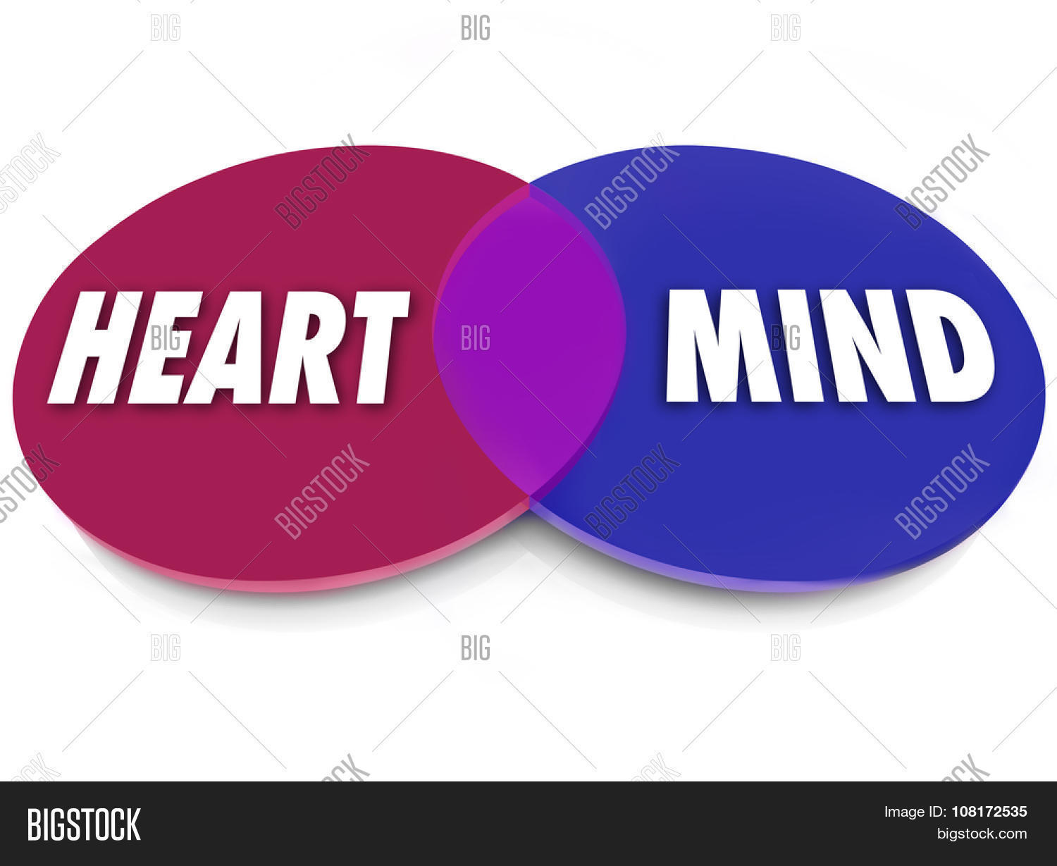 needs and wants venn diagram 1976 corvette stingray wiring heart mind words on image photo free trial bigstock circles to illustrate desires that balance the